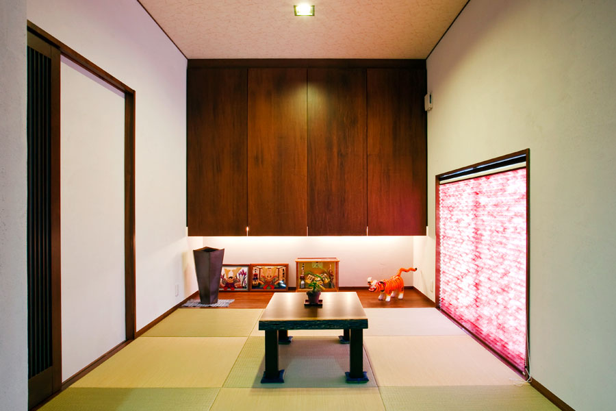 和の美しさを粋にアレンジして新和風を創り上げた趣のある家