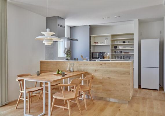 デザイン性を兼ね備えたキッチン収納