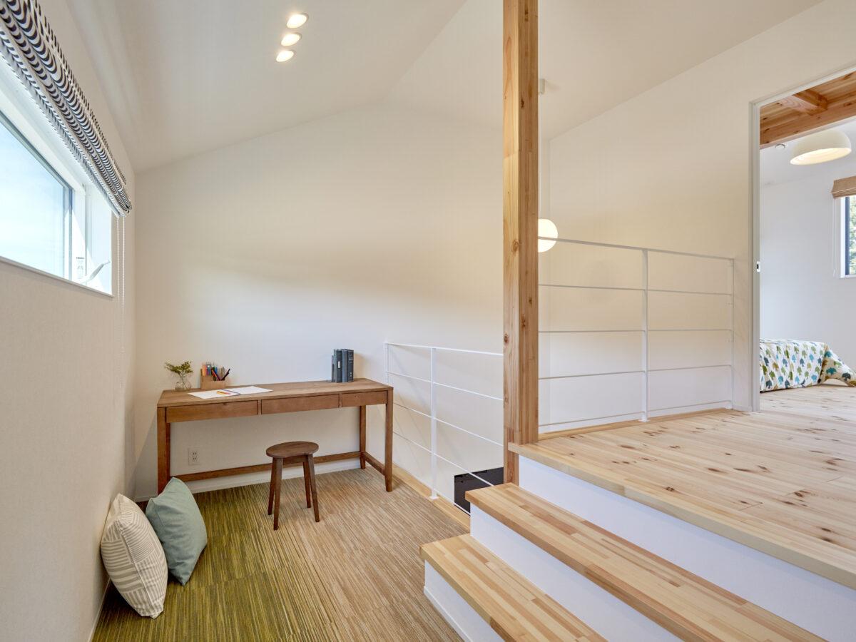 空間のつながりを大事にした「北欧+和」のお家