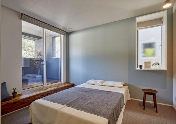 ちょうど良い大きさの寝室